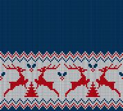 Knitted Christmas and New Year pattern. For print Stock Image