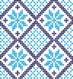 Knitted Christmas and New Year pattern. For print Royalty Free Stock Photo
