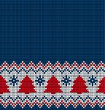 Knitted Christmas and New Year pattern. For print Stock Photos