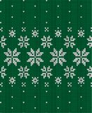 Knitted Christmas and New Year pattern Scandinavian style, illustration stock photography