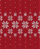 Knitted Christmas and New Year pattern Scandinavian style, illustration stock image