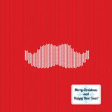 Knitted christmas pattern background with mustache Royalty Free Stock Image