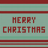 Knitted Christmas pattern Royalty Free Stock Images