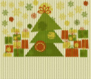Knitted Christmas pattern Stock Image