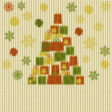 Knitted Christmas pattern Royalty Free Stock Photos