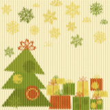 Knitted Christmas pattern Stock Photography