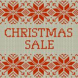 Knitted Christmas sale template banner. EPS 10 vector. Knitted Christmas sale template banner. And also includes EPS 10 vector Stock Images