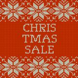 Knitted Christmas sale template banner. EPS 10 vector. Knitted Christmas sale template banner. And also includes EPS 10 vector Stock Photo