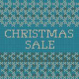 Knitted Christmas sale template banner. EPS 10 vector. Knitted Christmas sale template banner. And also includes EPS 10 vector Royalty Free Stock Image