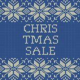 Knitted Christmas sale template banner. EPS 10 vector. Knitted Christmas sale template banner. And also includes EPS 10 vector Royalty Free Stock Images