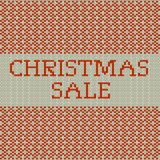 Knitted Christmas sale template banner. EPS 10 vector. Knitted Christmas sale template banner. And also includes EPS 10 vector Stock Photography