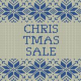 Knitted Christmas sale template banner. EPS 10 vector. Knitted Christmas sale template banner. And also includes EPS 10 vector Royalty Free Stock Photos