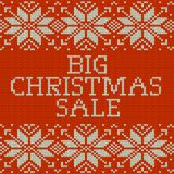 Knitted Christmas sale template banner. EPS 10 vector. Knitted Christmas sale template banner. And also includes EPS 10 vector Royalty Free Stock Photography