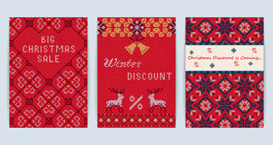 Knitted Christmas Sale Stock Images