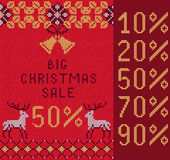Knitted Christmas Sale Royalty Free Stock Image