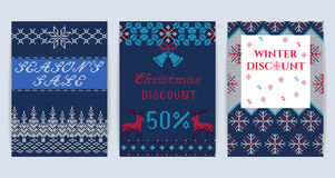 Knitted Christmas Sale Royalty Free Stock Images