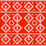 Knitted christmas seamless design Royalty Free Stock Photo
