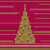 Knitted Christmas Tree Royalty Free Stock Images