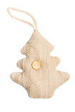 Knitted Christmas tree Stock Photos