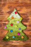 Knitted Christmas tree Royalty Free Stock Photo
