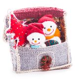 Knitted christmas Royalty Free Stock Photography