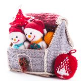 Knitted christmas Stock Images