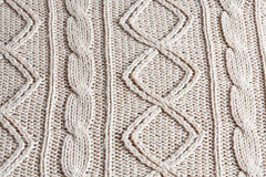 Knitted cloth as a background. Stock Image