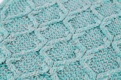 Knitted cloth background. Closeup picture Stock Photo