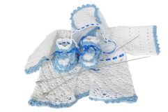Knitted clothes Stock Image