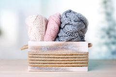 Knitted clothes.Woolen knitwear. royalty free stock photos