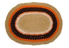 Knitted a coloré le tapis Images libres de droits