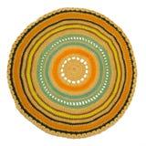 Knitted a coloré le tapis Photo libre de droits