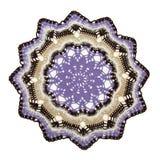 Knitted a coloré le tapis Photos libres de droits