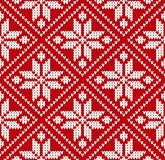 Seamless winter sweater norway red white pattern vector illustration vector illustration