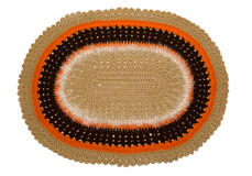 Knitted colored carpet. Royalty Free Stock Images