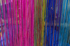 Knitted colorful fabrics texture on background Stock Image