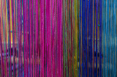Knitted colorful fabrics texture on background Stock Photos