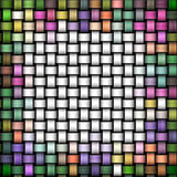 Knitted colorful texture as abstract canvas background Stock Photos
