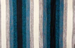 Knitted colour plaid fabrics Stock Photos
