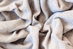 Knitted cotton linen texture fabric Stock Photography