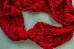 Knitted cowl royalty free stock photo