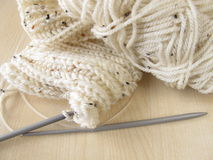 Knitted in cream white Stock Photography