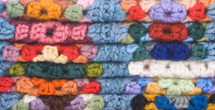 Knitted Crochet Squares Royalty Free Stock Photography