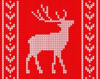 Knitted deer with patterns vector illustration