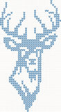 Knitted deer sweater background Royalty Free Stock Photos