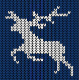 Knitted deer Royalty Free Stock Image