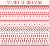 Knitted Dividers and Borders for Christmas and New Year. Vector iIlustration Stock Image