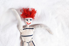 Knitted doll Royalty Free Stock Photos