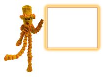 Knitted doll form. Knitted doll in an orange hat with a form Stock Photo
