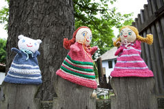 Knitted dolls Royalty Free Stock Photos
